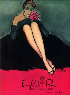 Illustration by Pierre Simon, English Rose Stockings.