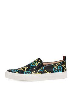 59e928d02037 Gucci GucciGhost Board Graffiti Skate Sneaker