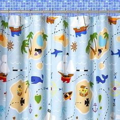Olive Kids Pirates Shower Curtain For Downstairs Bathroom Or Upstairs Mix Amp Match