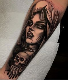 So Awesome! #LastMinuteStylist 🌟Study Best Meaningful Portrait Tattoo Ideas For Females That Give Courage And Strength🍅 #Cool #Cute tattoo espalda name forearm tattoo 1992 tattoo rise tattoo sagitarius tattoo unalome back tattoos tattoo bracelete fernweh tattoo tattoo inspo veni vidi amavi tattoo tattoos represent tattoos hourglasses initals tattoo southern tattoo blackwork tattoo rupi kaur tattoo traditonal tattoo dasies tattoo manly tattoos strength tattoo sym.. Rose Tattoos, Leg Tattoos, Girl Tattoos, Tatoos, Devil Tattoo, Dark Tattoo, Devil Aesthetic, Badass Aesthetic, Tattoo Designs For Girls