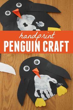 Toddler Approved!: Handprint Penguin Craft