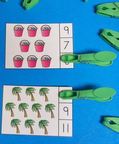 Your Little Learners Address Counting Skills and Fine Motor Development with One Fun Easy-to-Use Resource!!! $   #beach  #palmtrees  #ocean #vacation #summer #sandpails #KampKindergarten #clipcards #finemotor   https://www.teacherspayteachers.com/Product/Beach-Count-and-Clip-Cards-Sets-to-12-1903327