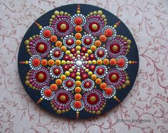 Hand Painted Mandala on an Artist Panel Meditation Mandala