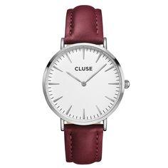 CLUSE La Bohème Silver White/Marsala CL18217