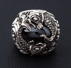 silver koi ring