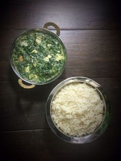 Palak Paneer mit Tofu. Indisches Spinat-Curry.