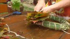 Venček z listov z korpusu z trávy