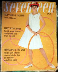 April 1961 Seventeen Magazine Back Issue by VariedTreasureFinds, $14.99