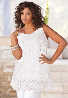 WHITE CROCHETED TOP LOVE IT!