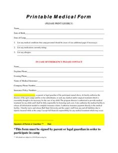 American Medical Id Free Medical Forms Medical History Form