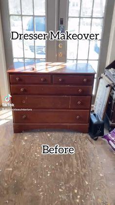 Diy Furniture Renovation, Furniture Refinishing, Chalk Paint Furniture, Furniture Makeover, Bedroom Furniture, Home Furniture, Repurposed Furniture, Vintage Furniture, Picture Frame Hangers