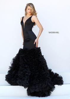 Sherri Hill 50487 Gorgeous Ruffle Train Dress for Homecoming #ipaprom #sherrihill