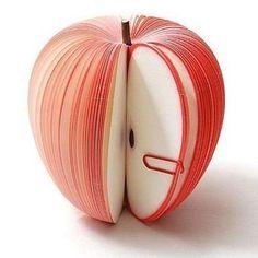 Sticky-Memo-forme-de-pomme-fruits-Bloc-notes-Bloc-notes-Portable-Scratch-papier