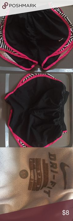 Nike print tempo shorts Black Nike tempo short. Black and white zig zag print on sides. Underwear inside was cut out. Nike Shorts