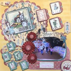 I used Graphic 45 The magic of oz paper for this layout of Ashley,Freya and Ava.