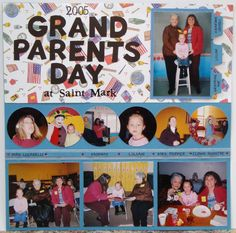 2005 Grandparents Day - Scrapbook.com-I love the layout, could be used for other events