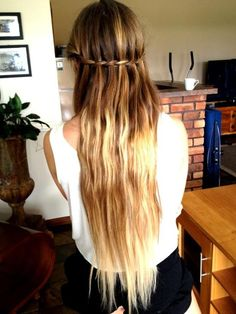 Ombre hair. Maybe I will do it in this summer :)