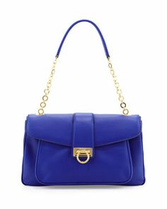 Salvatore Ferragamo Paula Leather Shoulder Bag, Zaffiro Viola - Neiman Marcus. Stay up-to-date with your style by shopping directly on U.S. retailers' sites. Opas provides a U.S. shipping address, so you can shop and get great prices! Visit www.opas.com