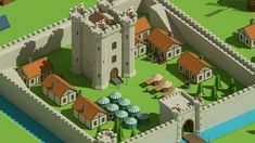 SimplePoly Medieval is a collection of low poly assets perfect for creating medieval environments and natural landscapes. All models in this package are well… Medieval Houses, Medieval Castle, 3d Building, Building Ideas, Photoshop, 3d Projects, Sci Fi Fantasy, 3d Animation, Art Design
