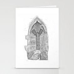 Medieval Church Window Stationery Cards by Rainer Steinke - $12.00 church window drawing pencil bleistift zeichnung fenster kirche mittelalter medieval #church #window #drawing #pencil #bleistift #zeichnung #fenster #kirche #mittelalter #medieval