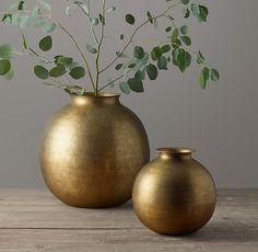 Burnished Brass Vase