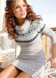Nordic knit dress