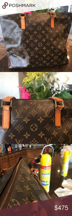 bc4a0ba3f4ec Selling this Beautiful vintage Louis Vuitton large Mezzo Tote on Poshmark!  My username is  Vuitton