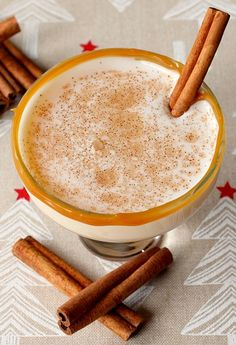 Amaretto, vodka, cinnamon and fresh nutmeg. The perfect after dinner dessert-cocktail! www.mantitlement.com