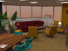 "Winning interior design meeting space ""The Loft"" Utrecht Utrecht, Blinds, My Design, Loft, Lounge, Restaurant, Curtains, Interior Design, Space"