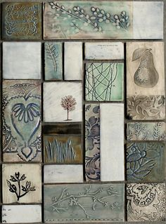 Dotti Potts Pottery-Pottery, fashion jewellery, earrings and rings Ceramic Wall Art, Ceramic Pots, Glass Ceramic, Tile Art, Mosaic Art, Ceramic Pottery, Tile Painting, Pottery Houses, Sculptures Céramiques