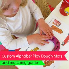 Custom Alphabet Play Dough Mats | Octavia and Vicky