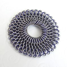 Chainmail Dragonscale stretchy bracelet in purple by TattooedAndChained, $45.00