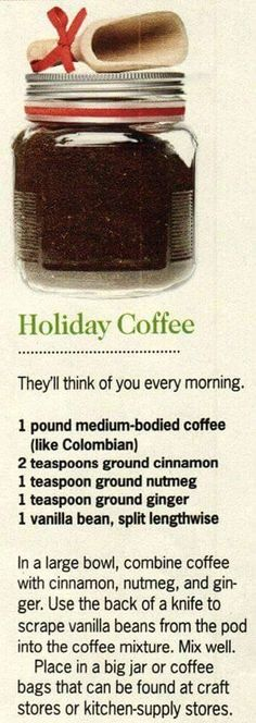 Holiday Coffee! Great anytime of the year! Via the Blind Lady Cafe