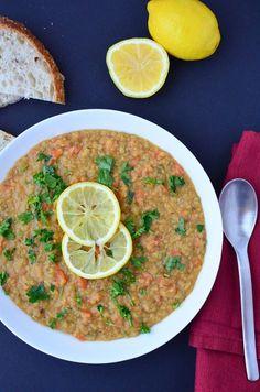 Lentil Lemon Soup #recipe #lentil #soup