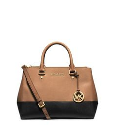 88f6f4baa1a3 Authentic Michael Kors Sutton Suntan Black NWT Brand new never used  seasonal color block Sutton. Comes with tags