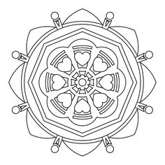 79 best Interesting Mandalas to Color images on Pinterest
