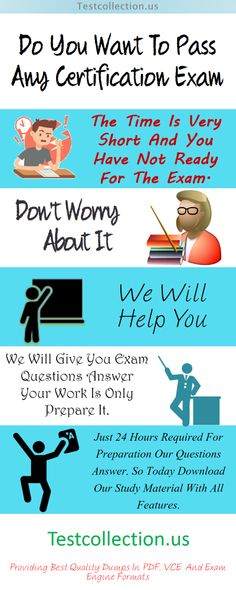 Get latest free vce dumps for all certification exams. We have practice test covers all topics step by step of your exam. which will your success possible. All our braindumps are available in PDF and exam engine formats and VCE also available. We have all exam dumps are verified and no match with other sites questions answer. Free demonstrations are also available along with a full money back guarantee for the satisfaction of our valued customers. https://testcollection.us/