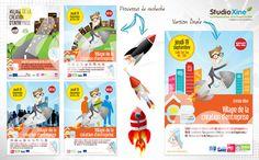 Affiches et flyers du Village de la Création d'Entreprise