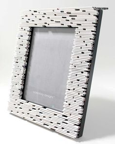 white 57 picture frame made from recycled magazines grey and white frame gift home decor portrait unique frame Recycled Magazine Crafts, Recycled Magazines, Cardboard Picture Frames, Paper Frames, Unique Picture Frames, White Picture Frames, Frame Crafts, Diy Frame, Diy Crafts Hacks