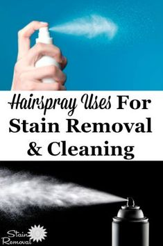 Here is a round up of tips and hints for hairspray uses around your home for unusual purposes, focusing on stain removal and cleaning. Deep Cleaning Tips, House Cleaning Tips, Car Cleaning, Spring Cleaning, Cleaning Hacks, Cleaning Supplies, All You Need Is, Need To Know, Clean Baking Pans