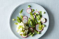 The Jewels of the Spring Salad: Shaved Asparagus with Burrata, Radish & Cucumber, a recipe on Food52