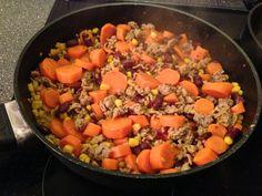 Gemüse-Hackfleischpfanne