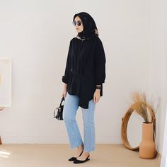 Modern Hijab Fashion, Street Hijab Fashion, Hijab Fashion Inspiration, Muslim Fashion, Fashion Outfits, Casual Hijab Outfit, Hijab Chic, Casual Work Outfits, Hijab Bride