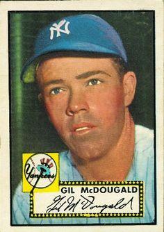 Gil McDougald 1952 Third Base - New York Yankees Card Number: 372 Series: Topps Series 1 Baseball Star, New York Yankees Baseball, Baseball Photos, Ny Yankees, Playing For Keeps, Kids Playing, Hockey Cards, Baseball Cards, Damn Yankees