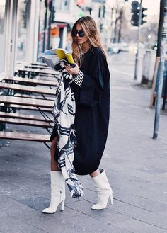 Maja Wyh // Must buy a pair of white calf-high boots. Stat.