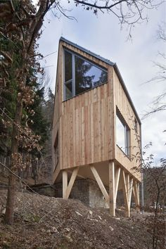 This hexagon-shaped wooden house by A.LT Architekti has 2 bedrooms in 1,012 sq ft | www.facebook.com/SmallHouseBliss
