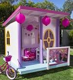 free plans woodworking resource from BetterHomesandGardens - play house,cubby houses,diy,free woodworking plans,free projects,do it yourself,girls,barbies,outdoors
