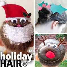 Spread some holiday cheer with a fun and festive hair style. These are so much fun!