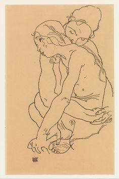 Egon Schiele | Two Women Embracing | The Met 1918