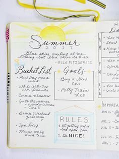 Summer planning in my Bullet Journal! Cut down on the chaos of summer by planning ahead.